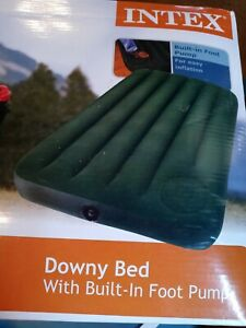 Intex Classic Downy Twin Air Mattress - 39in X 75in X 8 3/4in  New In Box