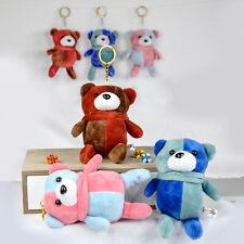 Goodiz Teddy Bear Plush Keyring Keychain Multi-Colour Gift Toy Keys Bag Hanging