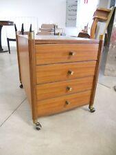 -Cassettiera con ruote in palissandro anni 60 - italian chest of drawers