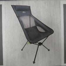 Cascade Ultralight Packable High-Back Chair Black/Gray camping chair ~NEW~