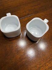 MODERN WHITE ESPRESSO COFFEE CUPS SET OF 2 CONTEMPORARY