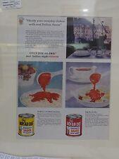 Original 1956 Vintage Advert ready to frame Chef Boy Ar Dee Spaghetti sauces
