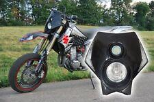 Black X2 Trail Off Road Dirt Bike Enduro MX Motorcycle Headlight Suzuki RM RMX