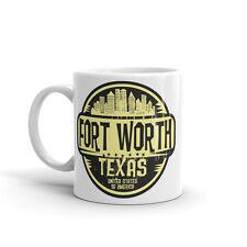 Fort Worth Texas USA Amérique haute qualité 10 oz (environ 283.49 g) Café Thé Tasse #6099