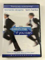 CATCH ME IF YOU CAN (DVD, 2003) Leonardo DiCaprio Tom Hanks - New Sealed!