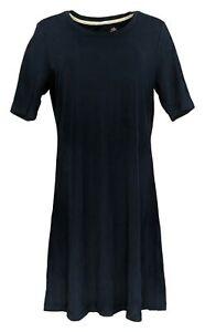 Isaac Mizrahi Live! Dress Sz M Essentials Elbow- Sleeve Blue n/a A351507