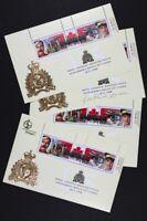 CANADA #1737b-c-d-3 RCMP Overprints Complete set of 4 S/S Mint NH