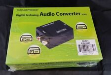 Monoprice Digital to Analog Audio Converter DCA01 RoHS compliant New in Box NIB