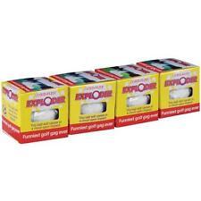 1set EXPLODING FOUR PACK OF TRICK GOLF BALLS expoding novelties gag golfing ball