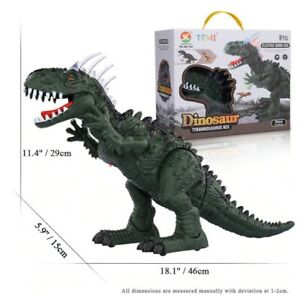 Remote Control Dinosaurs Electric Robot Sound Light Toy Excavation Jurassic TRex