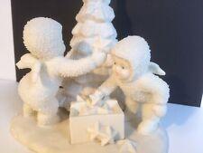 "Snowbabies Department 56 ""We Will Make It Shine "" BISQUE FIGURINE. CHRISTMAS"