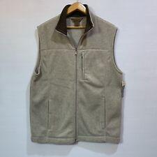 St. John's Bay Men Vest Tan Sz Big/Tall Large Adirondack Fleece Pill Resistant