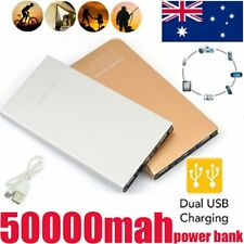 50000mAh Portable USB External Battery Charger Power Bank flashlight Torch Phone