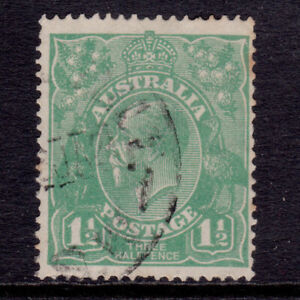 KGV Used 1½d Green, Single Wmk SG 61