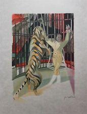 Hilaire Camille Lithographie originale signée sur japon le cirque les fauves