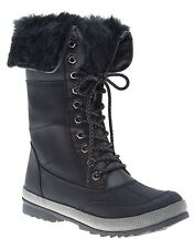 Fur Lined Women's Winter Boots Black Size 8W By Lane Bryant
