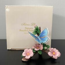 Lenox Adonis Blue Porcelain Butterfly Nature's Beautiful Butterflies 1991 Mib