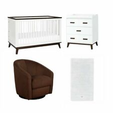 4 Piece Babyletto Nursery Set with Crib and Changer and Club Chair