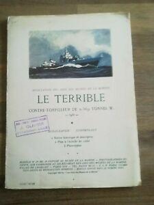 LE TERRIBLE     Notice , Plan à ECHELLE 1/250e , 2 PHOTOTYPIES