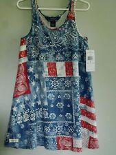 POLO Ralph Lauren Boho Paisley Stars & Stripes Flag Summer Dress Girls Size 5