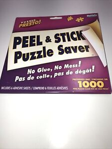 Puzzle Presto! Peel and Stick Puzzle Saver No Glue No Mess! buffalo Games.  11F