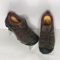 keen hiking shoes Brown leather womens us 9 low top sneakers f2892-11 sd lace up
