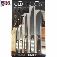 Old Hickory 5 Pieces Kitchen Knife Set w/ Carbon Steel Blades Hardwood Handle