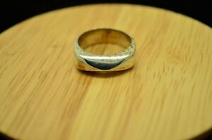 925 STERLING SILVER SIMPLE CLASSY MODERNIST DESIGN RING BAND SIZE 6.5 #22520