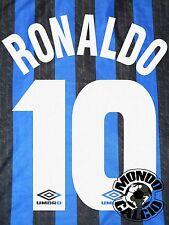 RONALDO KIT INTER NAME SET HOME PERSONALIZZAZIONE  FLOCK 1997-98