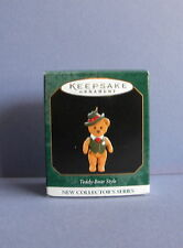 1997 Hallmark Keepsake Miniature Ornament #1 Teddy- Bear Style Series Nib