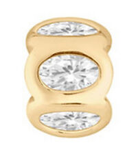 LOVELINKS BY PASTICHE  SPACER GOLD PLATED SILVER & CUBIC ZIRCONIA TT126CZG MINT