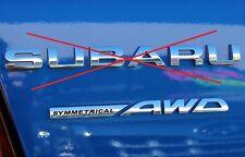"""NEW Genuine OEM Subaru Rear Badge  """"Symmetrical AWD"""" 2010-2011 Impreza WRX STi"""