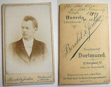 Dortmund & Hörde - 1899 - Otto Möller ? Müller ? als Mann - Portrait / CDV