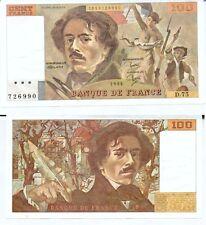 Gertbrolen 100 FRANCS EUGENE  DELACROIX de 1984   D.75 Billet N° 1853726990