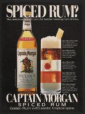 1983 CAPTAIN MORGAN Spiced Rum - COKE - MAI TAI - PINA COLADA - VINTAGE AD
