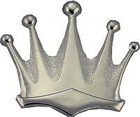 Plain Silver Royal Crown Belt Buckle king queen 237