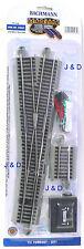HO Scale Model Railroad Trains Layout Bachmann Silver EZ Track #5 Left Switch