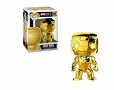 Funko Pop Marvel Iron Man #375 Gold Chrome Collectible Figure AUTHENTIC