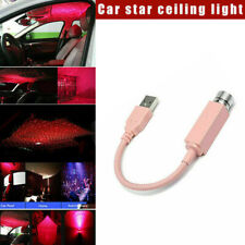 USB LED Car Roof Atmosphere Night Light Lamp Projector Red Light Car Decors