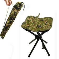Lightweight Folding Stool Square Camo Chair for Fishing Camping Hiking Beach
