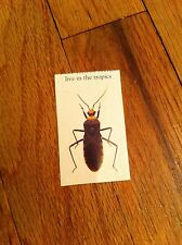 Unknown Vintage sticker decal Insect Collectible Bug Entomology Entomologist #1