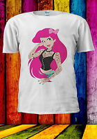 Punk Disney Princess Ariel Tattoo T-shirt Vest Tank Top Men Women Unisex 498