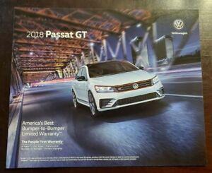 2018 VW Volkswagen Passat GT Original Car Sales Brochure Folder
