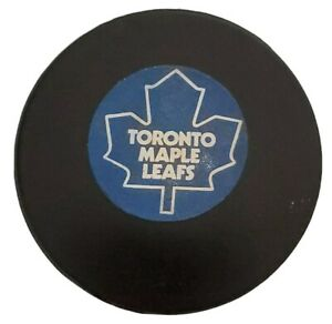 TORONTO MAPLE LEAFS NHL VINTAGE APPROVED OFFICIAL GAME PUCK VICEROY MFG. 🇨🇦