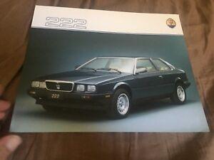 1986 Maserati Biturbo 222 Glossy Color Brochure Prospekt
