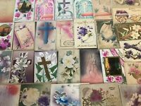Lot of 35 Antique ~AIRBRUSHED~Embossed  Vintage~EASTER~Postcards-p399