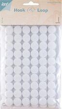 Klettpunkte Klettverschluss rund Verschluss 15 mm SB-Beutel 60 Stück weiß 0070