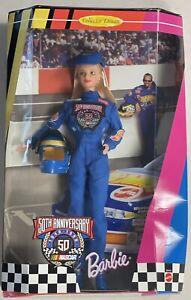 NIB Collector Edition 50th Anniversary Nascar Barbie Doll Mattel 20442