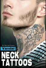 Tinsley Transfers Vandal Neck Tattoo FX Temporary Costume Accessory