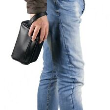 borsello borselli pochette borsa porta documenti uomo da polso di eco pelle nero